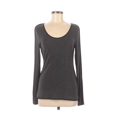 Philosophy Republic Clothing - Philosophy Republic Clothing Long Sleeve T-Shirt: Gray Solid Tops - Size Medium