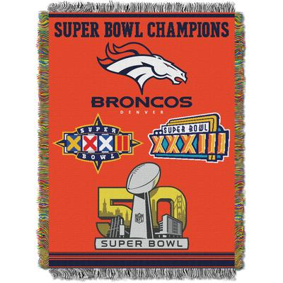 Men's Big & Tall Broncos Commemorative Series Throw by NFL in Multi