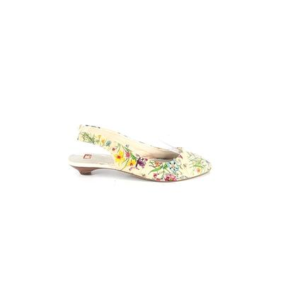 BC Footwear - BC Footwear Flats: Ivory Print Shoes - Size 8 1/2