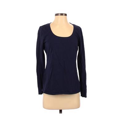 Philosophy Republic Clothing - Philosophy Republic Clothing Long Sleeve T-Shirt: Blue Solid Tops - Size Medium