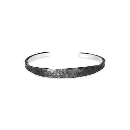 Armband Herren Armreif Handgefertigt Used Look 925 Silber Kuzzoi Grau