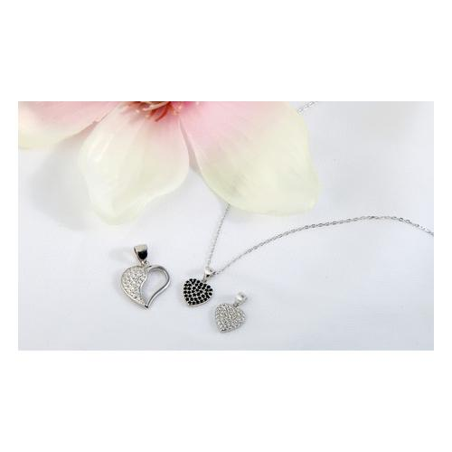 Anhänger in Herzform / Silber / Modell 5