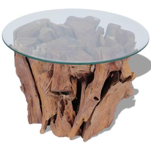 Betterlife - Couchtisch Massivholz Teak Treibholz 60 cm