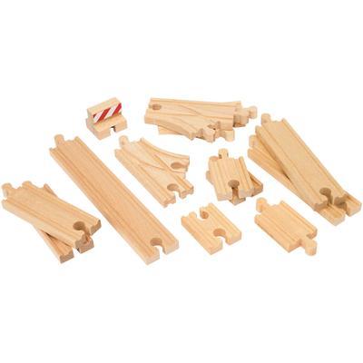 BRIO Gleise-Set Ergänzungsset Holzschienensystem, WORLD Schienen Starter Pack B, FSC-Holz aus gewissenhaft bewirtschafteten Wäldern bunt Kinder Ab 3-5 Jahren Altersempfehlung