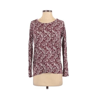 Old Navy Long Sleeve T-Shirt: Burgundy Tops – Size X-Small
