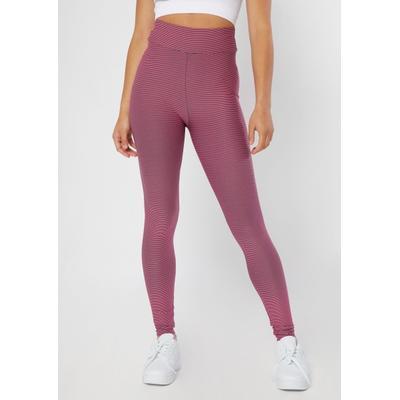Rue21 Womens Pink Striped Yarn Dye Leggings - Size Xs