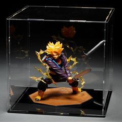 Présentoir à figurine en acrylique, transparent, pour jouets, vitrine anti-poussière, boîte