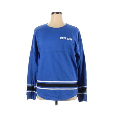Assorted Brands Sweatshirt: Blue Solid Clothing – Size X-Large