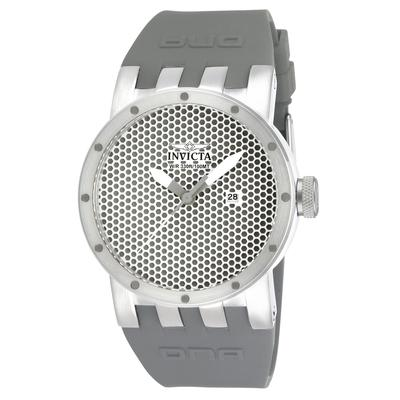 Invicta DNA Quartz Watch - Stainless Steel case with Grey tone Silicone band - Model 10418