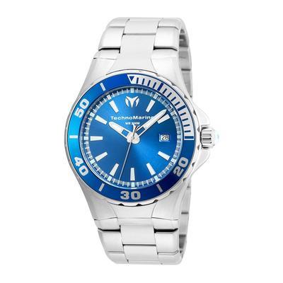 TechnoMarine Sea Manta 44mm watch with Blue dial 515 Quartz - Model 215002