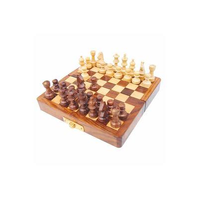 La Ruta de Las Indias Chess Game Teak Wood - Model IN-HE9167