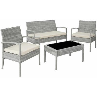 Rattan garden furniture set Sparta 3+1 - garden tables and chairs, garden furniture set, outdoor