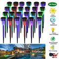 Solar Lights Outdoor, 24 Pack 7 Color Changing Outdoor Solar Lights - Waterproof, Solar Powered Outdoor Lights Solar Garden Lights for Pathway Walkway Yard & Lawn