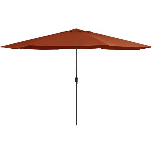 Sonnenschirm mit Metall-Mast 400 cm Terrakotta-Rot