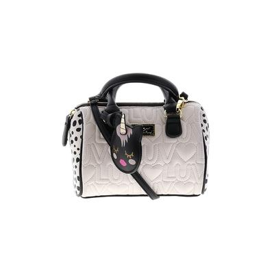 Luv Betsey by Betsey Johnson Satchel: White Color Block Bags