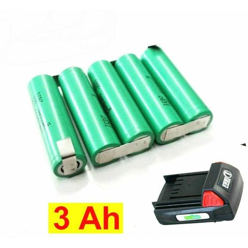 Tauschpack für Florabest Akku 18 V Accu Pack Mocca-LR32-250 mit 3,0 Ah