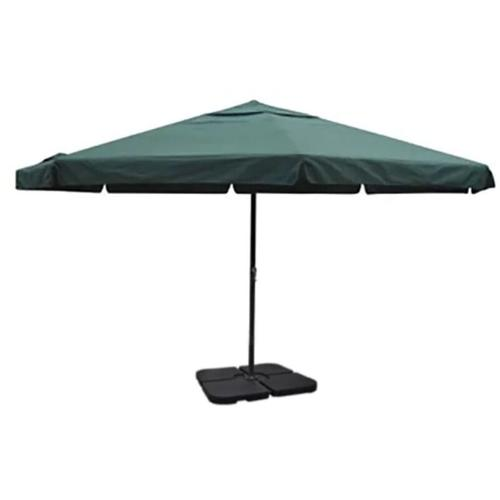 Sonnenschirm Aluminium grün mit Schirmständer 15469