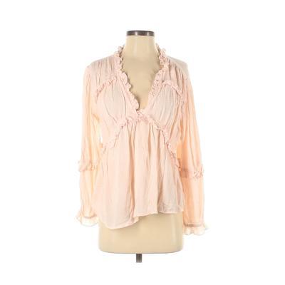 ASOS Long Sleeve Top Pink Solid ...