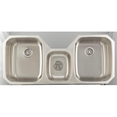 46.875-in. W CSA Approved Stainless Steel Kitchen Sink With Stainless Steel Finish And 18 Gauge - American Imagination AI-27708