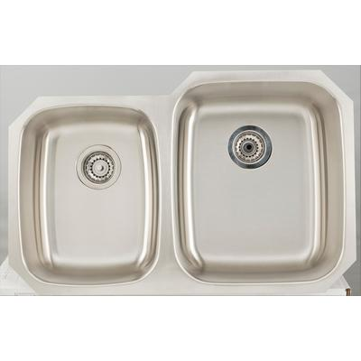 32.125-in. W CSA Approved Stainless Steel Kitchen Sink With Stainless Steel Finish And 18 Gauge - American Imagination AI-27703