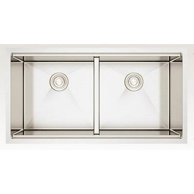 36-in. W CSA Approved Stainless Steel Kitchen Sink With Stainless Steel Finish And 16 Gauge - American Imanginations AI-29288