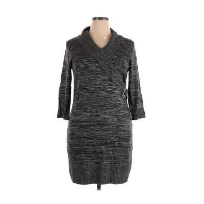 Alyx Casual Dress - Sweater Dress: Gray Dresses - Used - Size X-Large