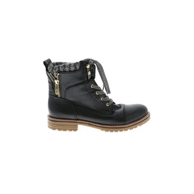 Tommy Hilfiger Boots: Black Solid Shoes - Size 6