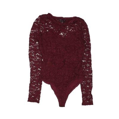 Material Girl Bodysuit: Burgundy Clothing - Size Medium