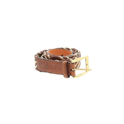 Tommy Bahama - Tommy Bahama Leather Belt: Brown Solid Accessories - Size 36