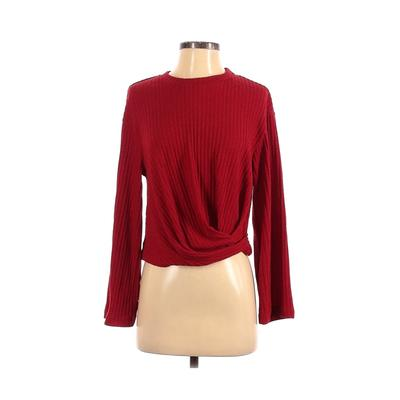 Farrow Long Sleeve Top Red Solid Crew Neck Tops – Used – Size Small
