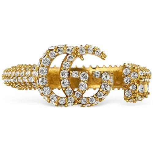 Gucci Doppel G Schlüsselring mit Kristallbesatz