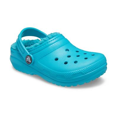 Crocs Digital Aqua Kids' Classic Lined Clog Shoes
