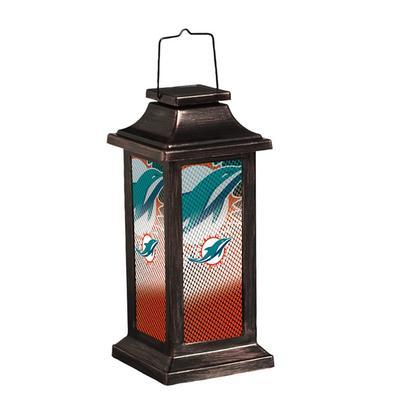 Miami Dolphins Solar Garden Lantern