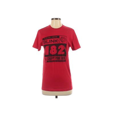 Rock Me Apparel Short Sleeve T-Shirt: Red Graphic Tops - Size Small