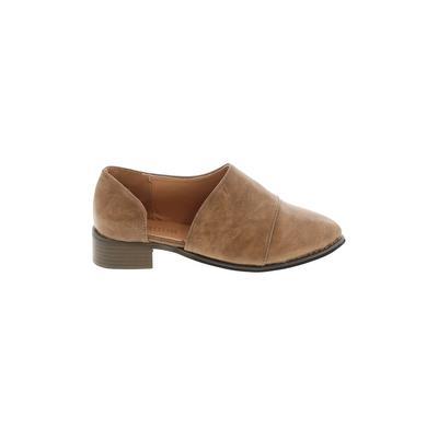 Fashion - Fashion Flats: Tan Solid Shoes - Size 39
