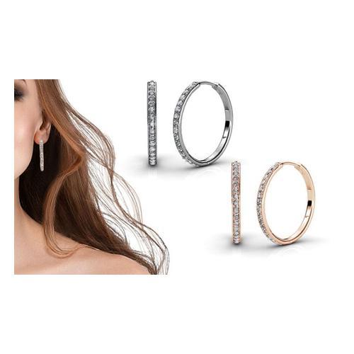 Ohrringe mit Swarovski®-Kristallen: Silber/2