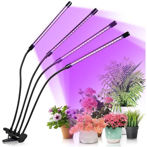 Hengda LED Pflanzenlampe 40W Dimmbar Pflanzenlicht mit Zeitschaltuhr, Pflanzenleuchte mit Rot Blau