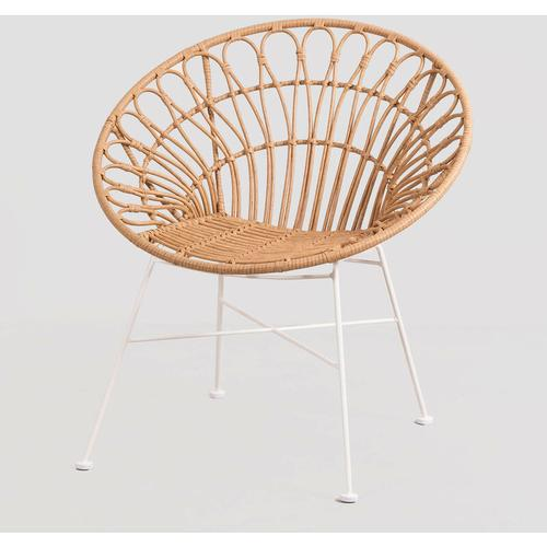 Maui Synthetic Rattan Chair Rattan PE Natürlich - Natürlich - Sklum