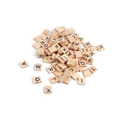 Holz-Scrabble-Buchstaben: 100