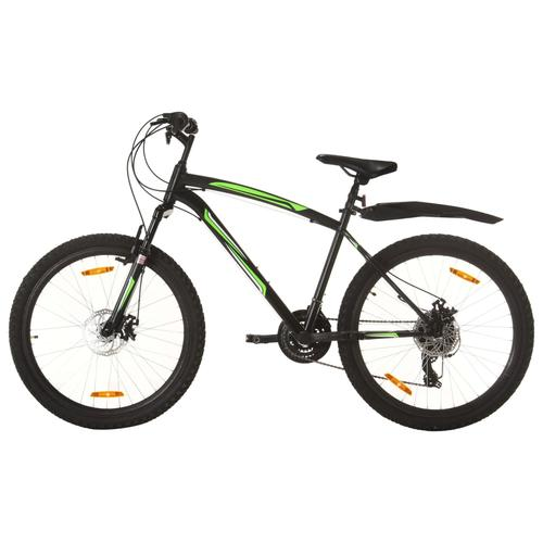 vidaXL Mountainbike 21 Gang 26 Zoll Rad 42 cm Schwarz