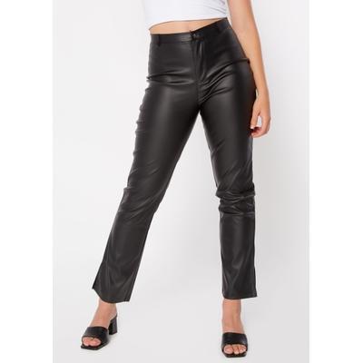 Rue21 Womens Black Faux Leather Slit Hem Pants - Size Xl