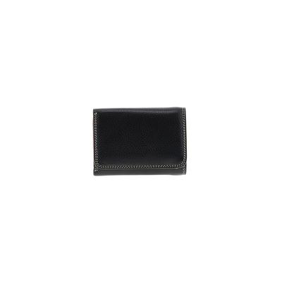 Miss Vera Pelle - Miss Vera Pelle Leather Wallet: Black Solid Bags