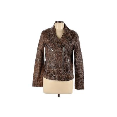 Veda Leather Jacket: Brown Jackets & Outerwear - Size Large