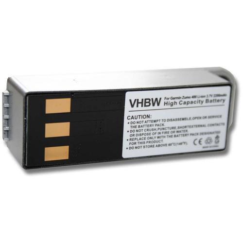 vhbw Li-Ion Akku 2200mAh (3.7V) für Navigation, GPS Garmin Zumo 400, Zumo 450, Zumo 500, Zumo 500