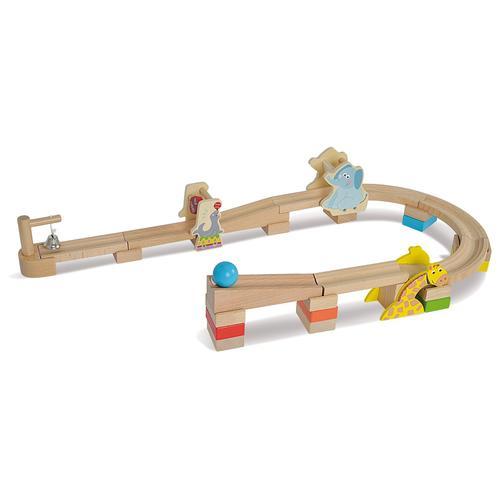 Eichhorn Kugelbahn, Kinderspielzeug, für Feinmotorik, ab 3 Jahren, aus Holz