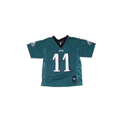 NFL Short Sleeve Jersey: Teal Solid Sporting & Activewear - Size Large