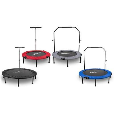 Mini-trampoline de fitness pliable : Barre en T / 122 cm / Gris
