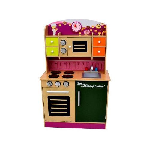 Kinderküche Kinderküche Spielküche aus Holz mit Zubehör violett