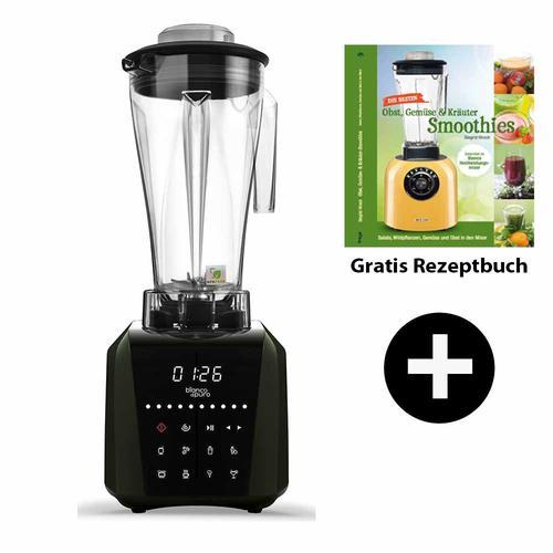 Bianco Patto Hochleistungsmixer + Smoothiebuch | Smoothie Mixer