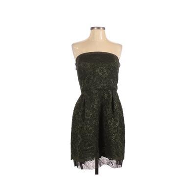 David's Bridal Cocktail Dress - Mini: Green Solid Dresses - Used - Size 14